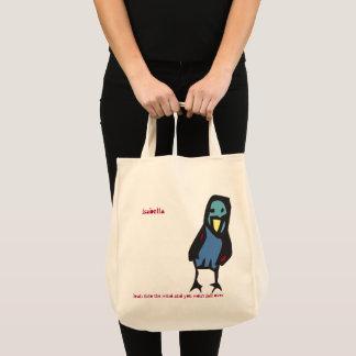 Lean into the wind... birdie tote bag