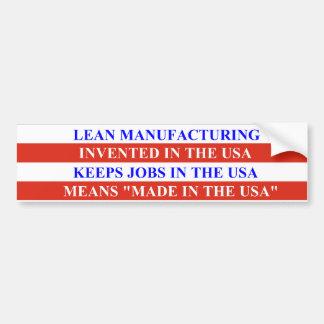 Lean Manufacturing Bumper Sticker