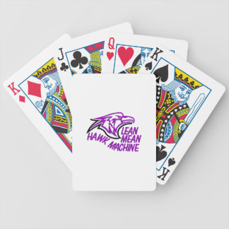 Lean Mean Hawk Machine Poker Deck