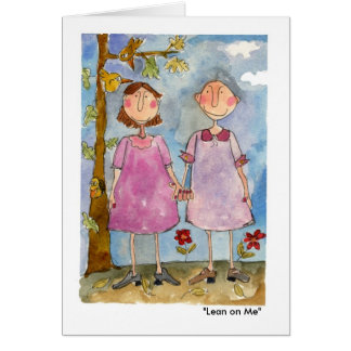 """Lean on Me"" Card"