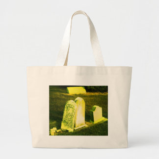 Lean on Me, Cemetery Photography Large Tote Bag