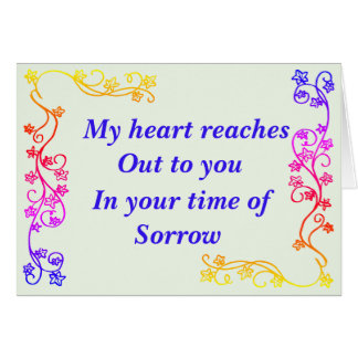 Lean On Me In Your Time of Sorrow Card