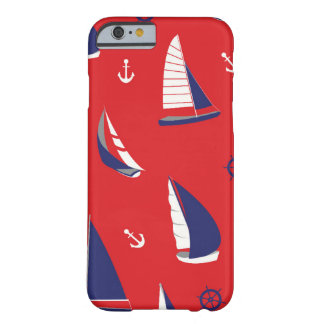 Lean Sailboat Pattern Barely There iPhone 6 Case