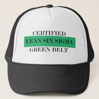 Lean Six Sigma Certified Green Belt Trucker Hat