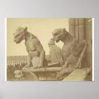 Leaning Gargoyles Poster