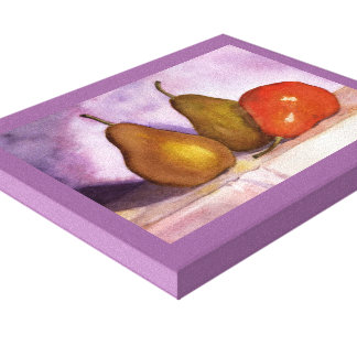 Leaning Pear Canvas Print