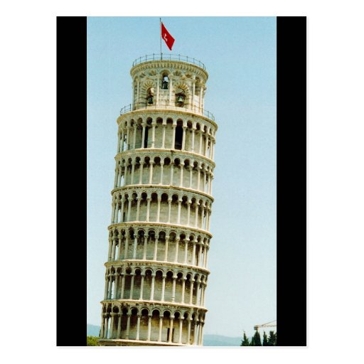 leaning pisa tower postcards