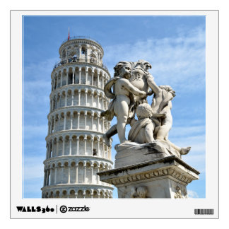 Leaning tower and La Fontana dei Putti Statue, Pis Wall Sticker