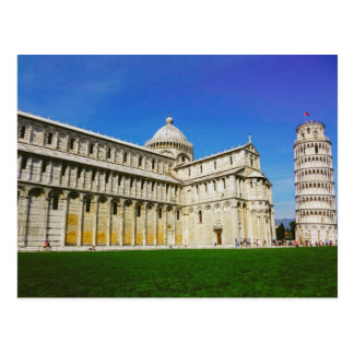 Leaning tower in Pisa Post Card
