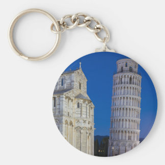 Leaning Tower of Pisa at night Keychain