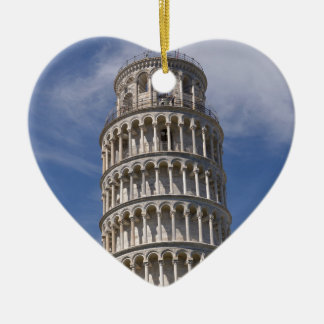 Leaning Tower of Pisa Ceramic Heart Ornament
