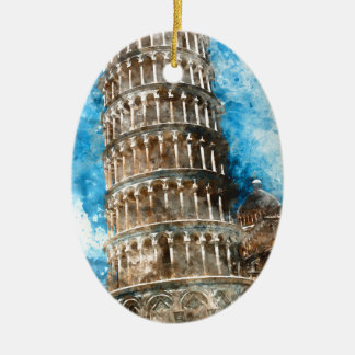 Leaning Tower of Pisa in Italy Ceramic Ornament