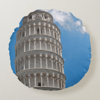 Leaning Tower of Pisa in Italy Round Pillow