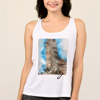 Leaning Tower of Pisa in Italy Tank Top