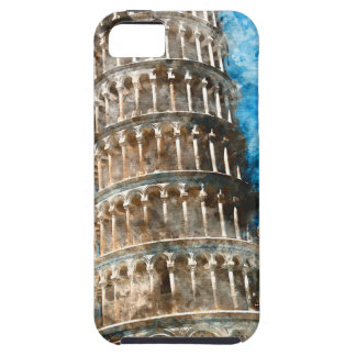 Leaning Tower of Pisa in Italy - Watercolor iPhone 5 Cover