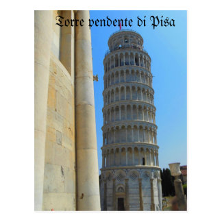 Leaning Tower of Pisa Italy Postcard