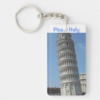 Leaning Tower of Pisa Italy Single-Sided Rectangular Acrylic Keychain