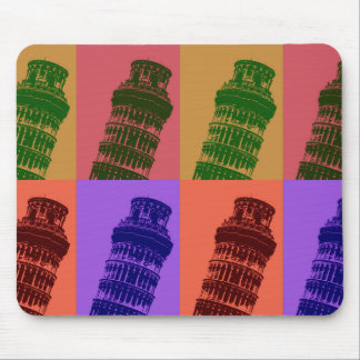 Leaning Tower of Pisa Pop Art Mousepads