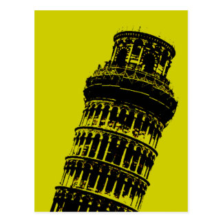 Leaning Tower of Pisa Pop Art Postcard