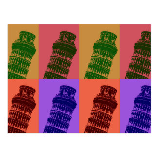 Leaning Tower of Pisa Pop Art Postcards