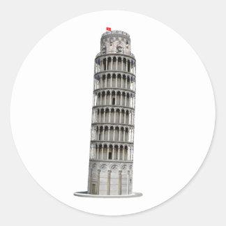 Leaning Tower of Pisa: Round Sticker