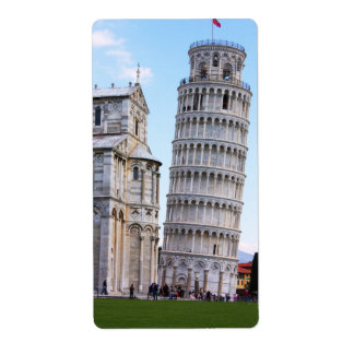Leaning Tower of Pisa Shipping Label