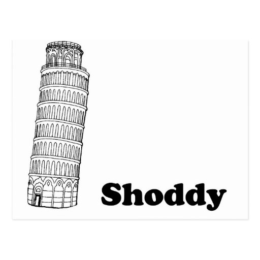 Leaning Tower of Pisa - Shoddy Postcards