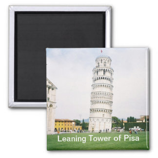 Leaning Tower of Pisa Square Magnet