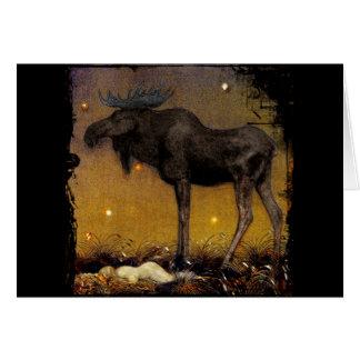 Leap Elk Princess Cotton Asleep Card