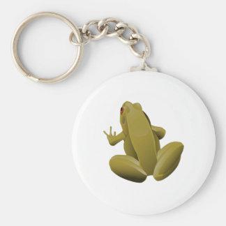Leap Frog Basic Round Button Keychain