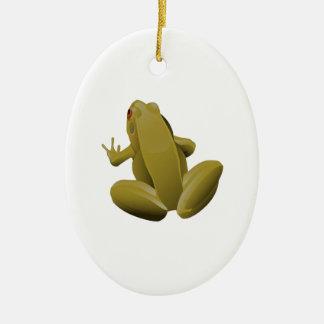 Leap Frog Ceramic Ornament