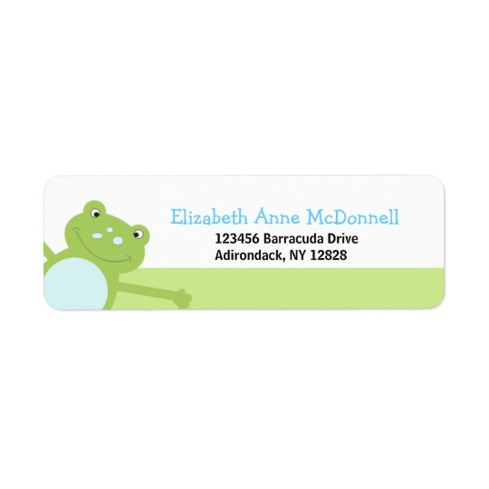 Leap Frog Froggy Custom Address Labels (Green)