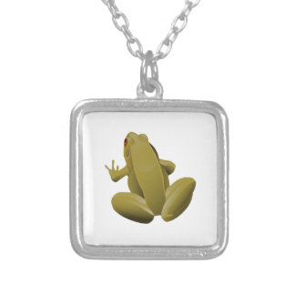 Leap Frog Silver Plated Necklace