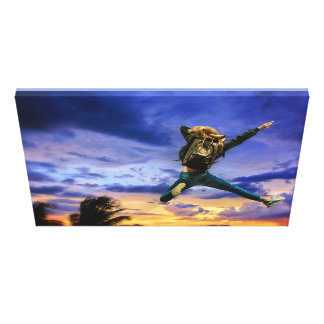 Leap into the freedom canvas print