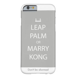 Leap Palm or Marry Kong iPhone Case