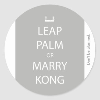 Leap Palm or Marry Kong Sticker