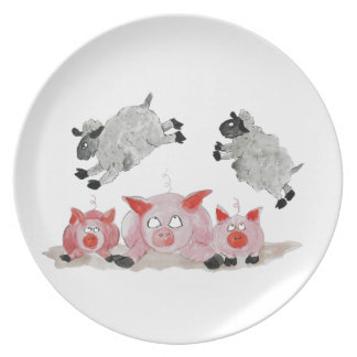 Leap Pig by Suffolk Sheep Plate