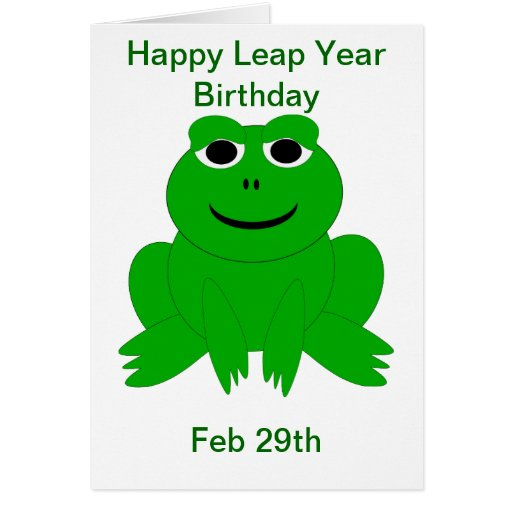 Line Drawing Leap Years And Euclid : Leap year birthday card zazzle