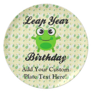 Leap Year Birthday, Cute Frog Plate