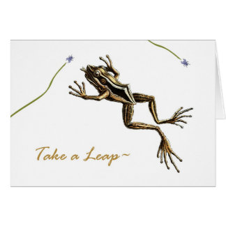 Leap Year Day, Vintage Leaping Frog Card