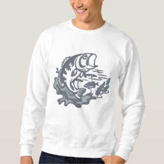Leaping Bass Embroidered Sweatshirt