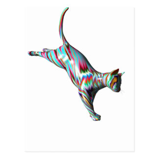 Leaping Cat Postcard