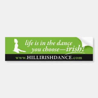 Leaping Dancer Bumper Sticker