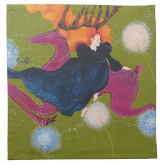 Leaping Deer Printed Napkin