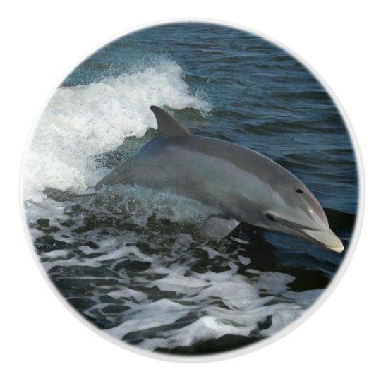 Leaping Dolphin Ceramic Knob