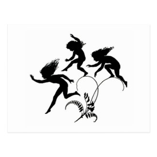 Leaping Fairies Postcard