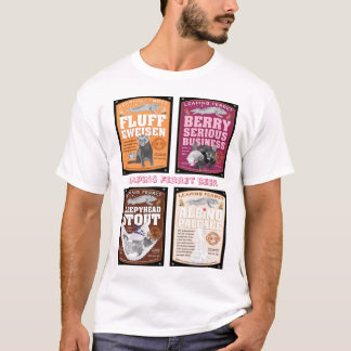 Leaping Ferret beer labels T-Shirt
