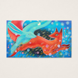 Leaping Fox with Hare. Business Card