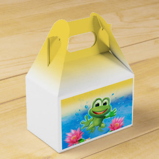 Leaping Frog birthday party take-away box Party Favor Boxes