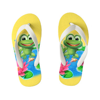 Leaping Frog colorful holiday kids Flip Flop